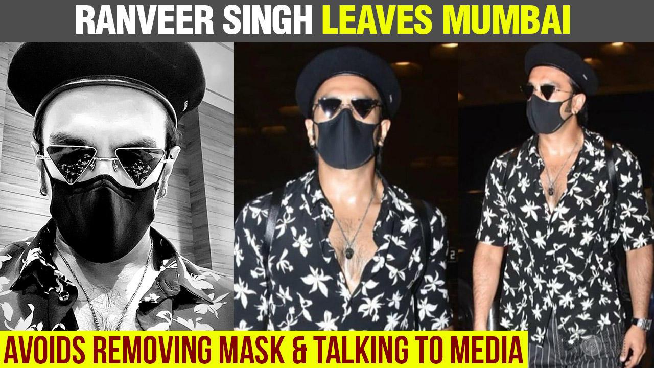 Ranveer Singh AVOIDS Speaking To Media At Mumbai Airport | Leaves Mumbai City