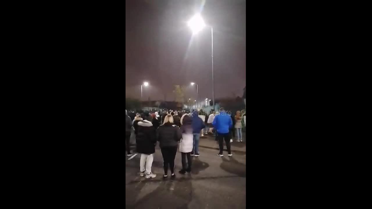 'Hundreds' line the streets of Belfast amid clashes in Northern Ireland