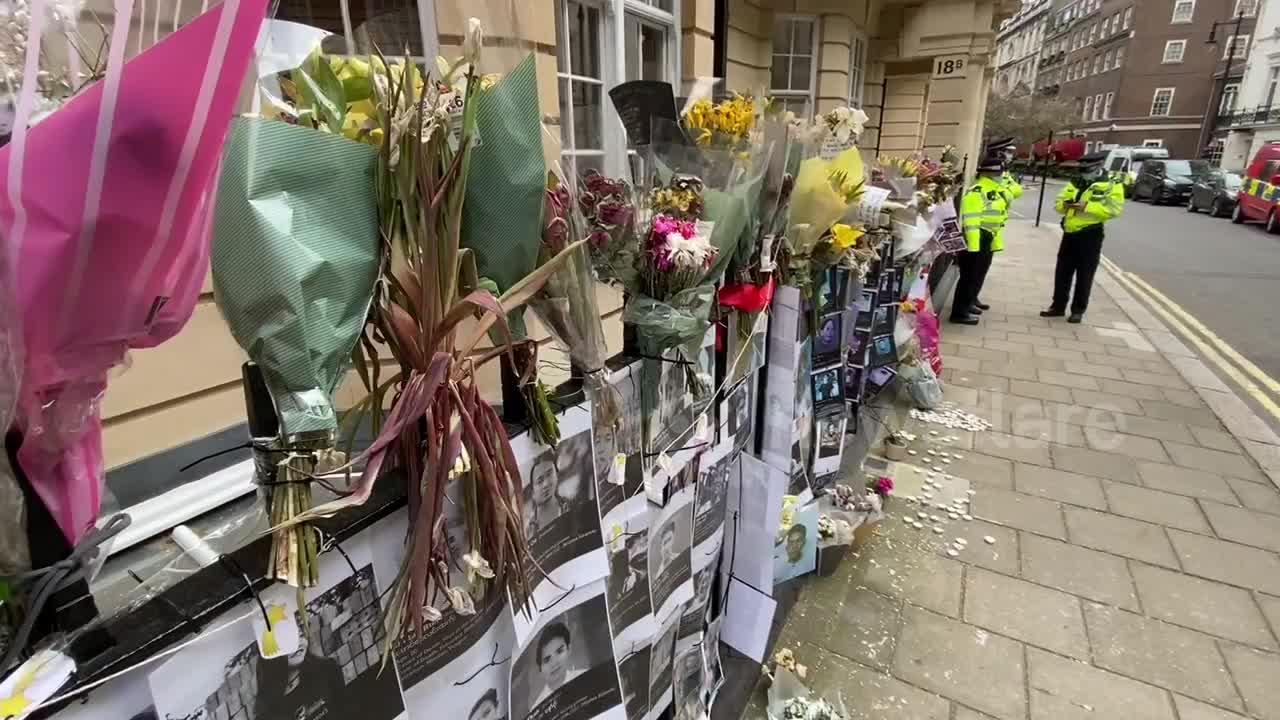 Scene outside London embassy morning after Myanmar ambassador was locked out