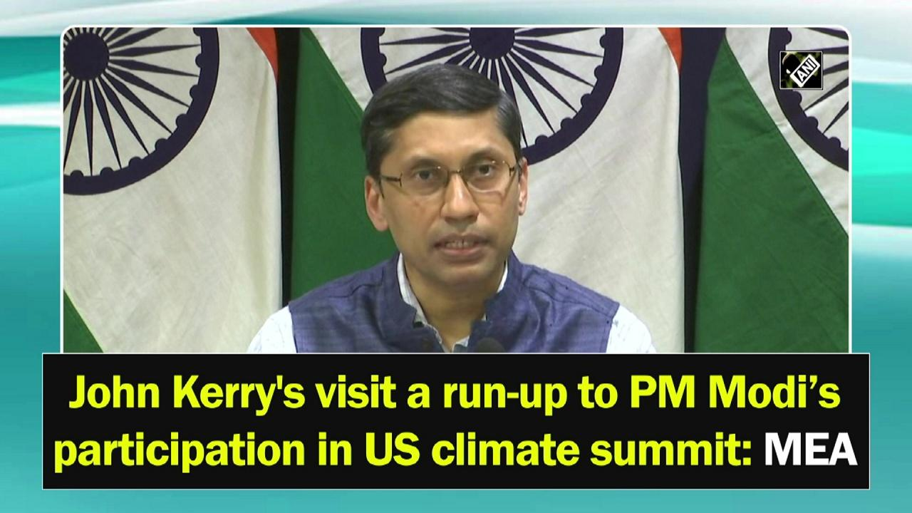 John Kerry's visit a run-up to PM Modi's participation in US climate summit: MEA