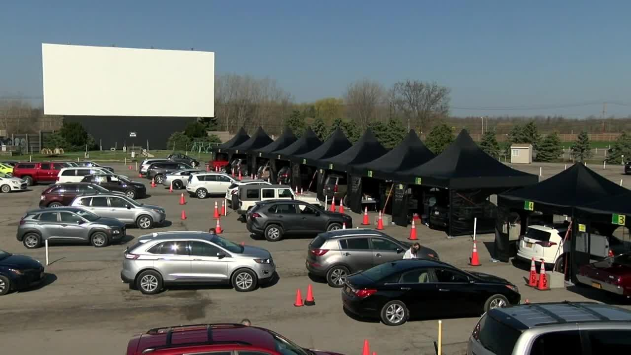Niagara County hosts largest vaccination clinic to date at Transit Drive-in