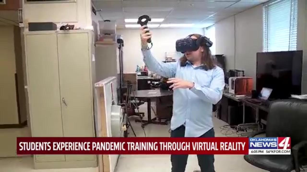 Oklahoma college students create new virtual reality COVID-19 training program