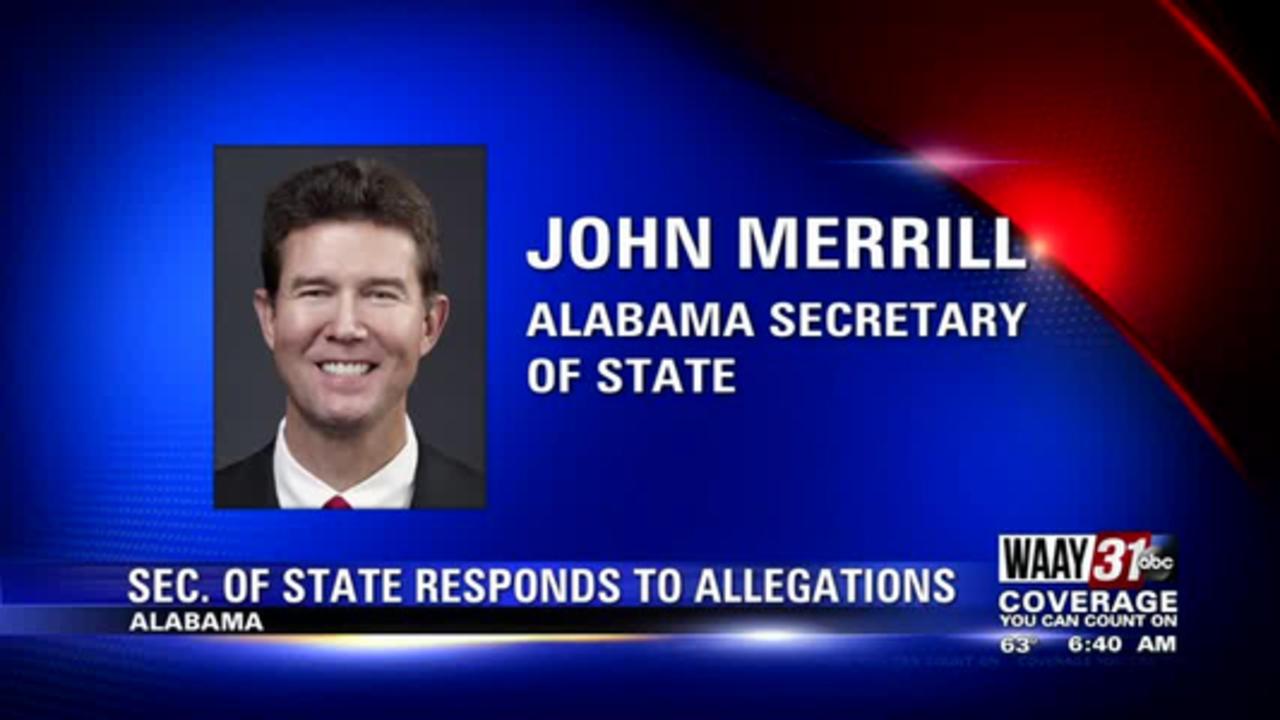 Alabama Secretary of State John Merrill says he won't run in 2022