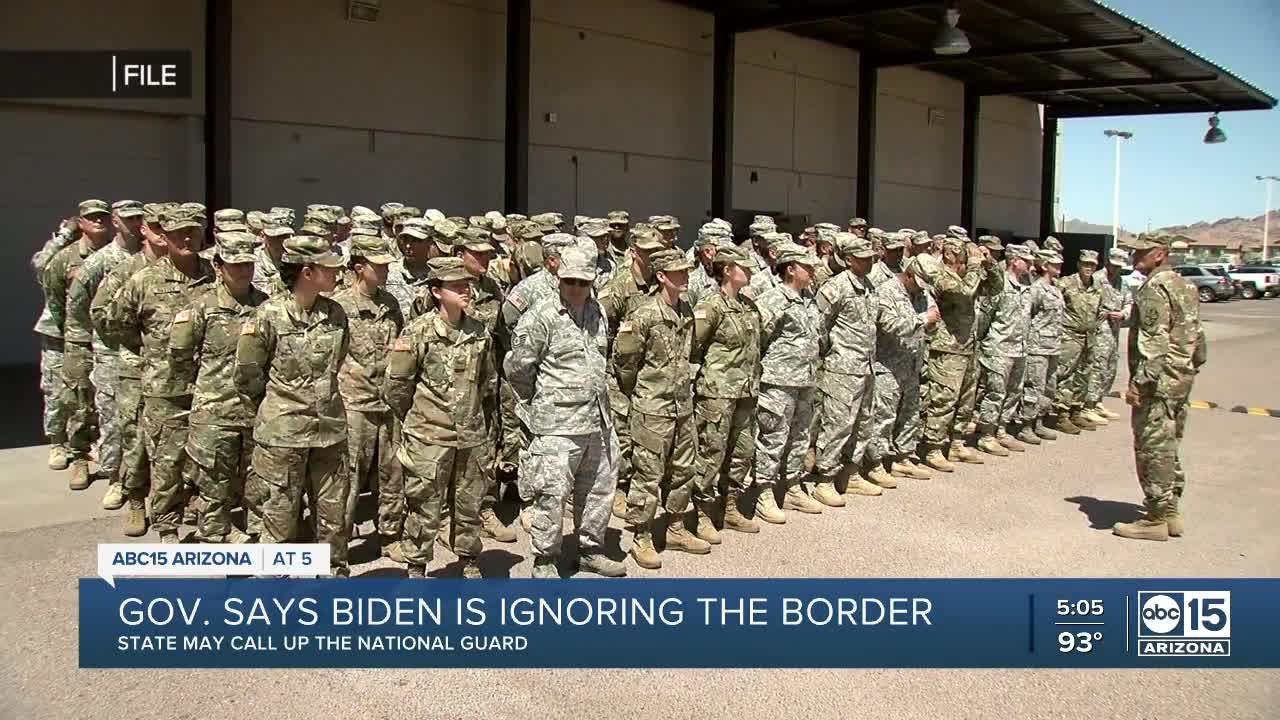 Gov. Ducey says he will send National Guard to border, even if the state has to pay for it