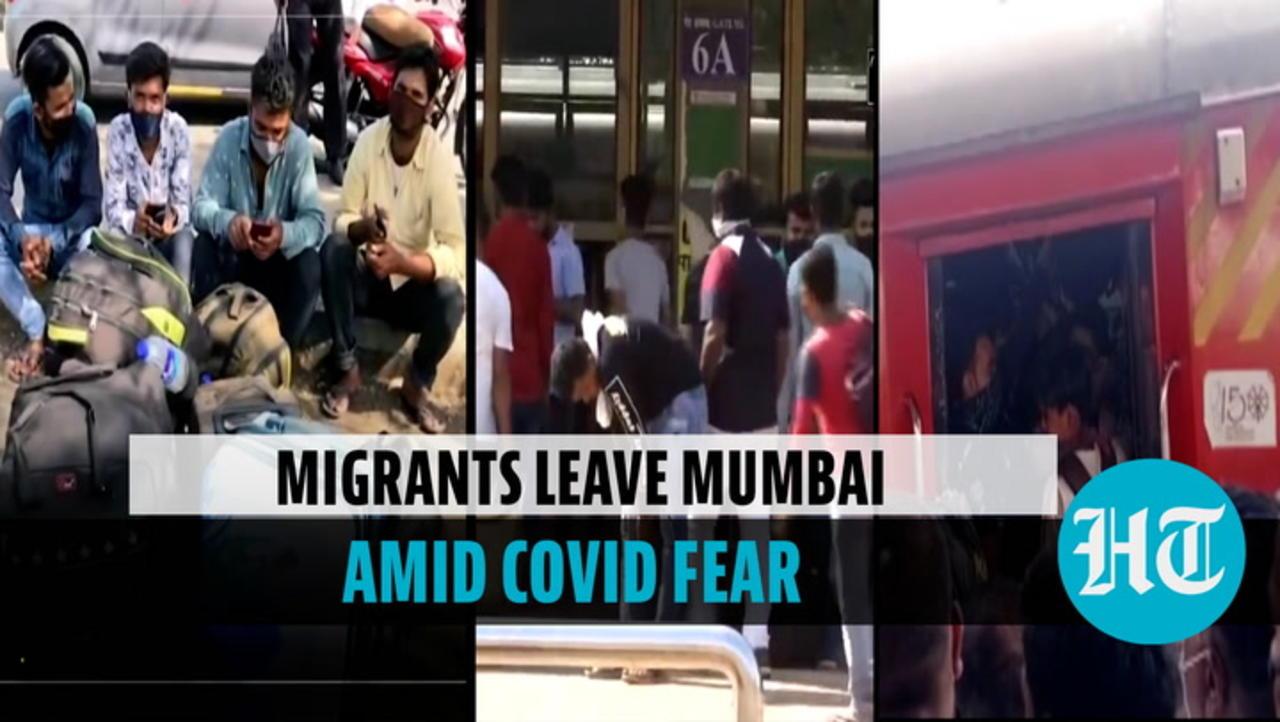 'Corona fear': Migrant workers leave Mumbai in jam-packed train fearing lockdown