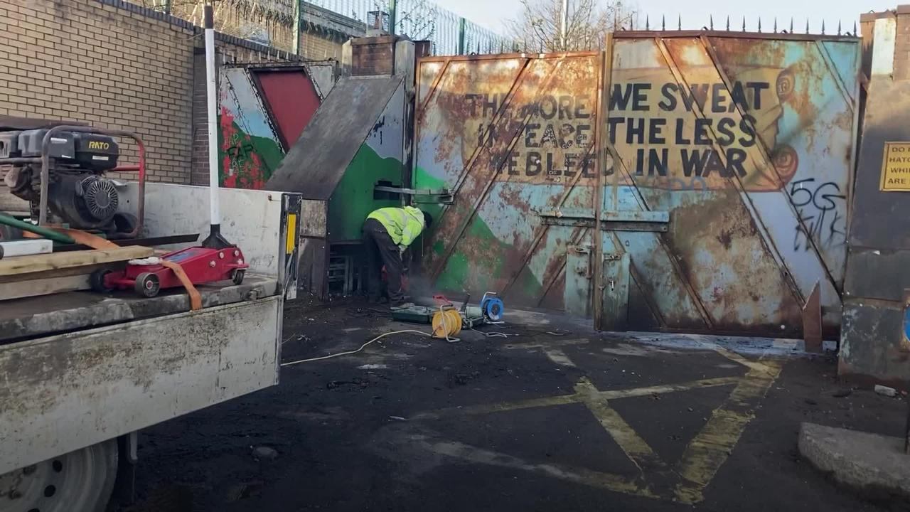 Clean-up underway after night of disorder in west Belfast