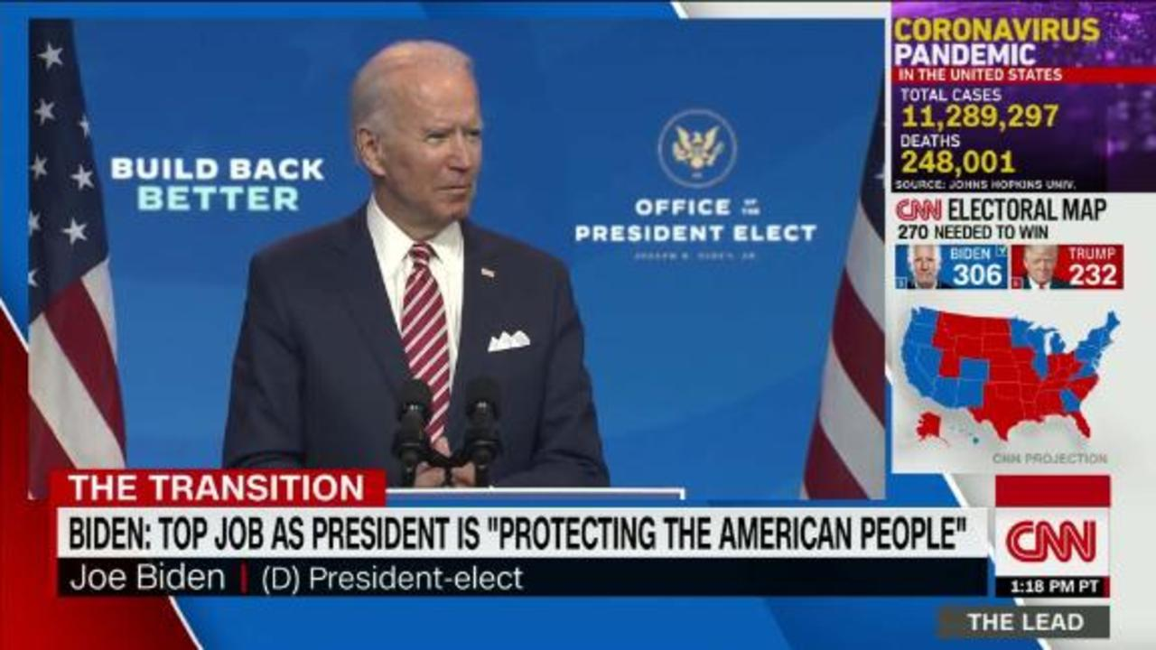 Biden meets with top intelligence & defense experts in lieu of security briefing being blocked by Trump