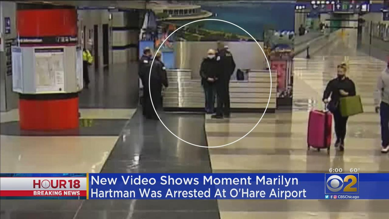 New Video Shows Moment Serial Stowaway Marilyn Hartman Was Arrested At O'Hare International Airport