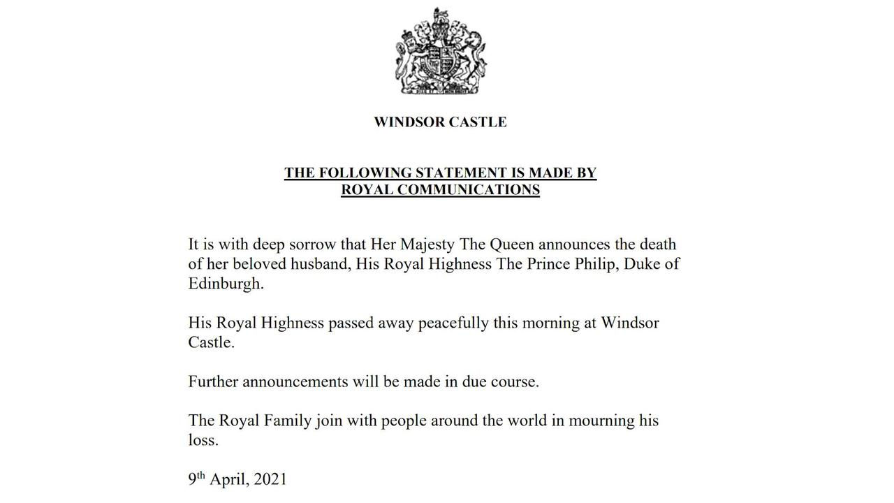 WEB EXTRA: Statement On The Death Of Britain's Prince Philip