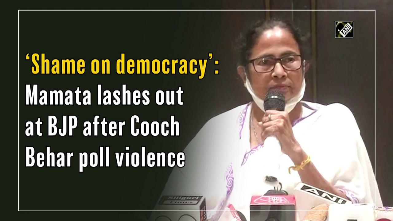 'Shame on democracy': Mamata lashes out at BJP after Cooch Behar poll violence