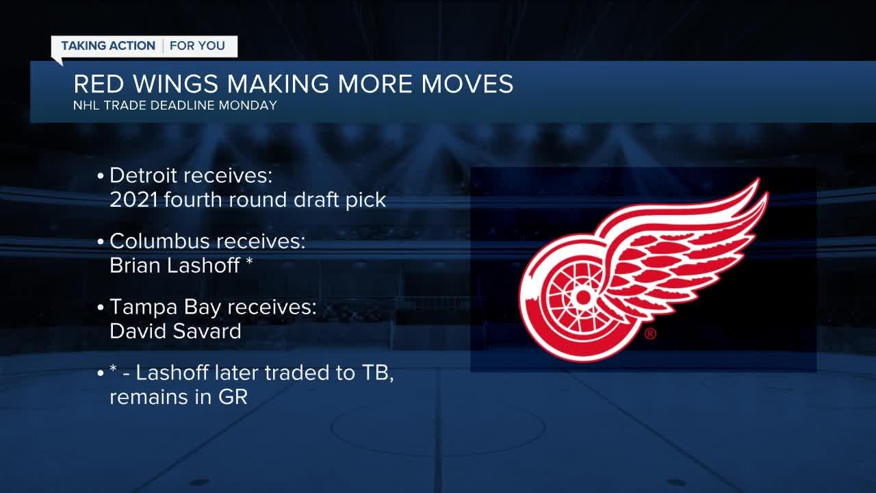 Red Wings receive draft pick in three-team trade