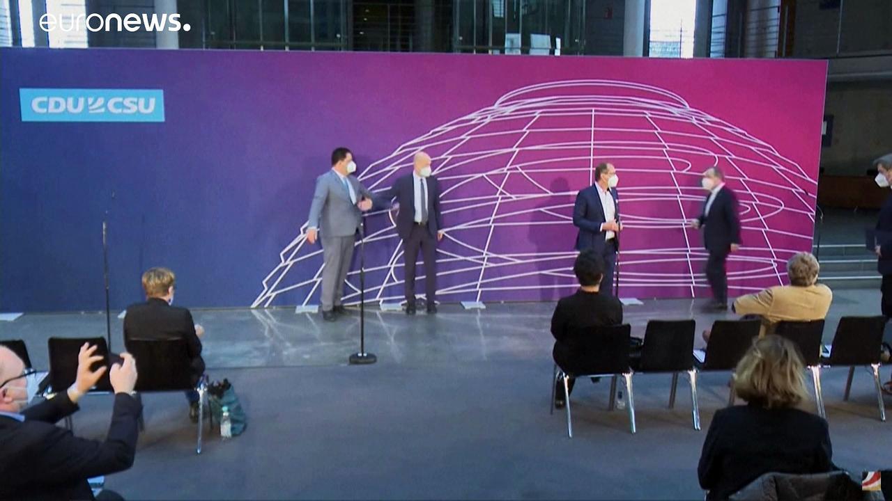 German conservatives Laschet and Soeder put themselves forward to succeed Merkel