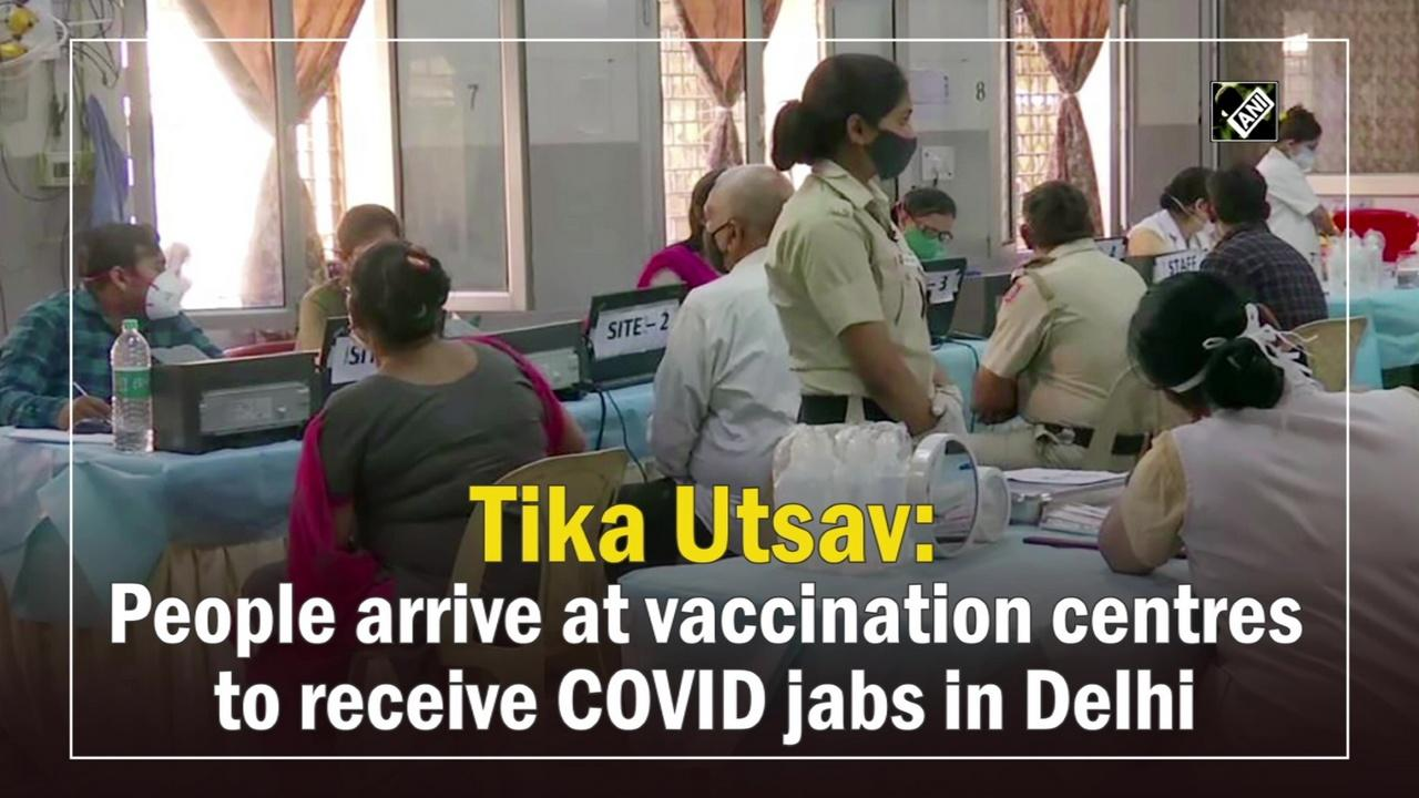 Tika Utsav: People arrive at vaccination centres to receive COVID jabs in Delhi
