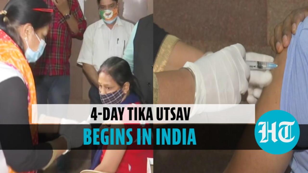 Tika Utsav begins in India; people reach inoculation centres to get Covid jab