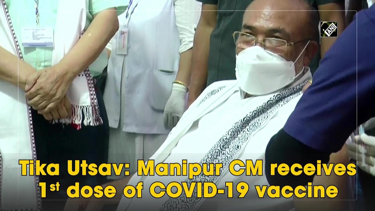 Tika Utsav: Manipur CM receives 1st dose of COVID-19 vaccine