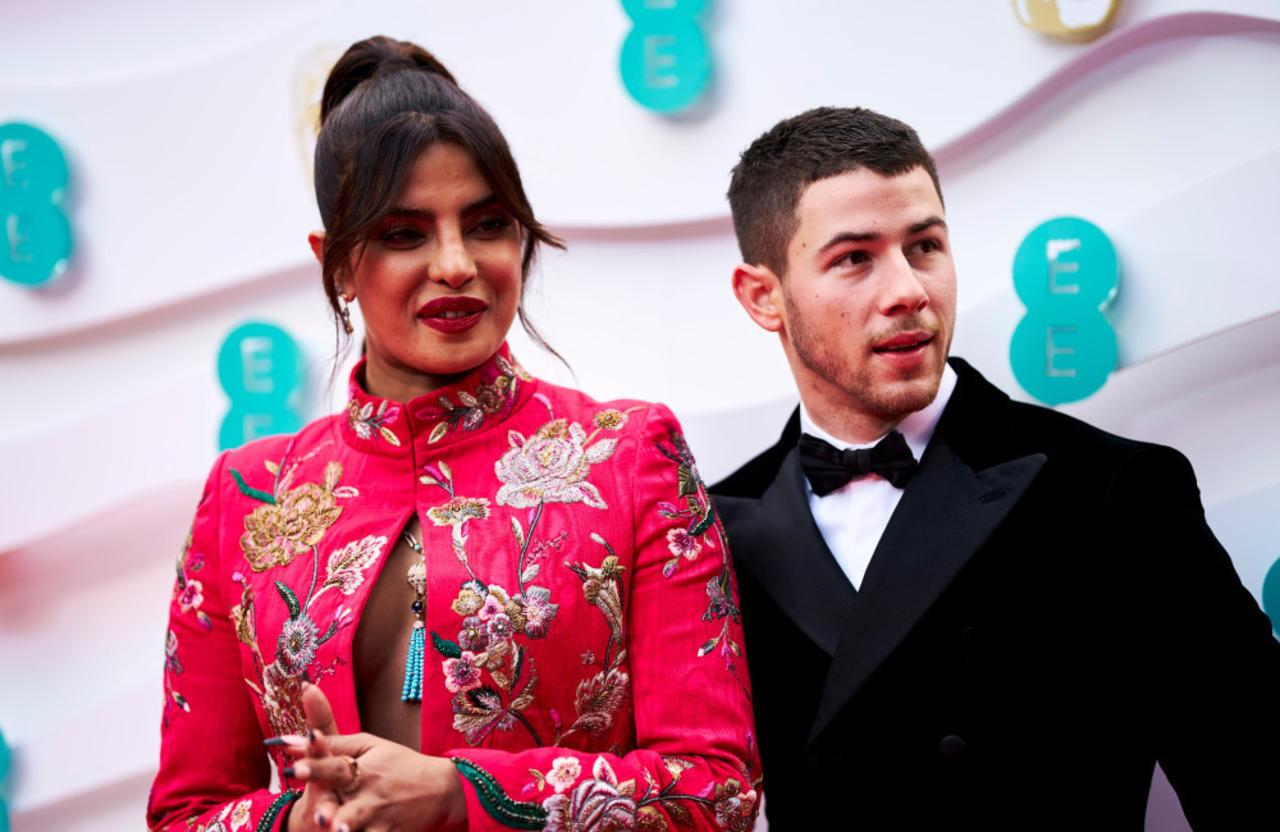 Priyanka Chopra stuns in hot pink jacket at BAFTAs