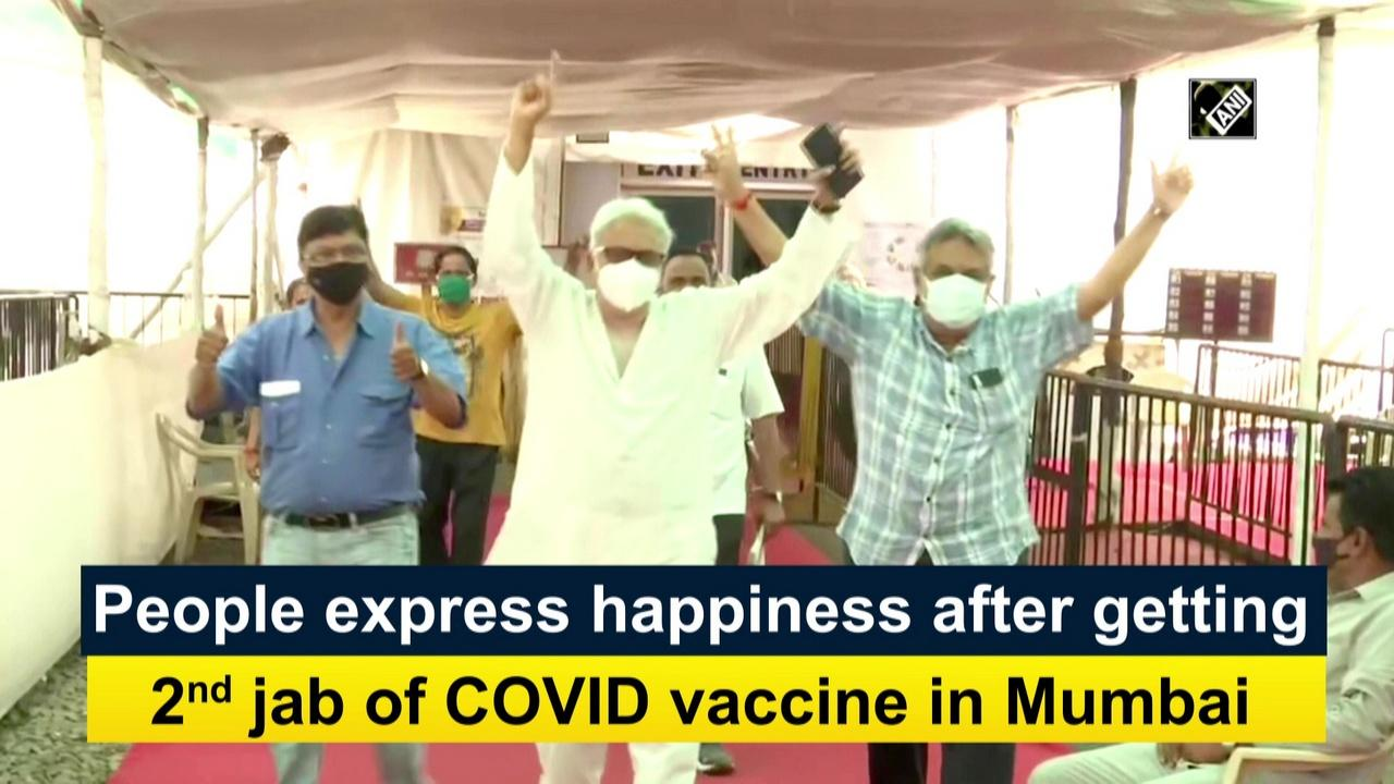 People express happiness after getting 2nd jab of COVID vaccine in Mumbai