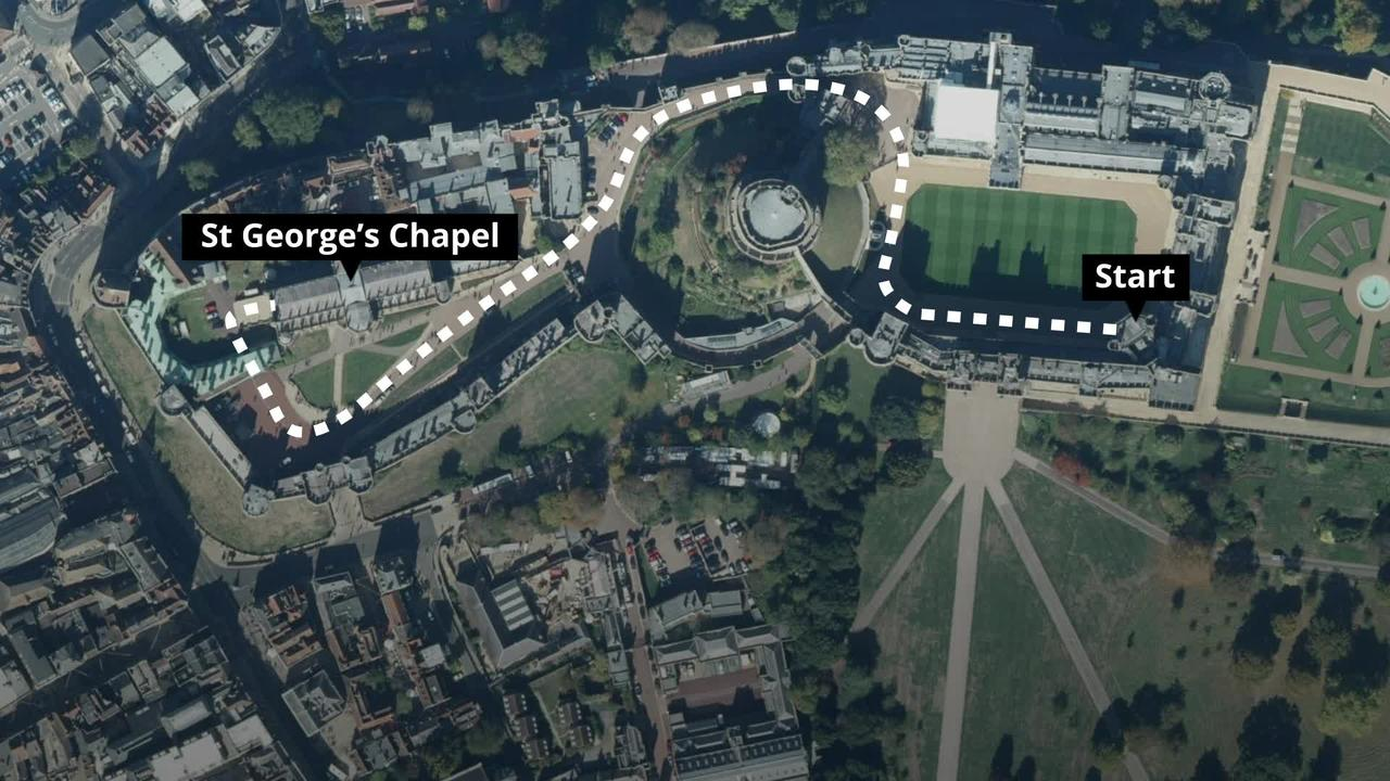 Prince Philip's funeral: The planned procession to St George's Chapel