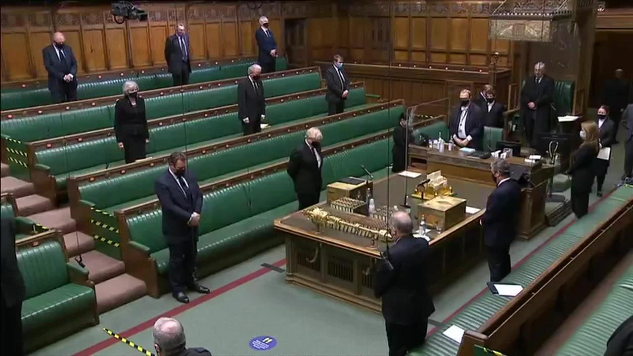 House of Commons holds minute's silence for Prince Philip