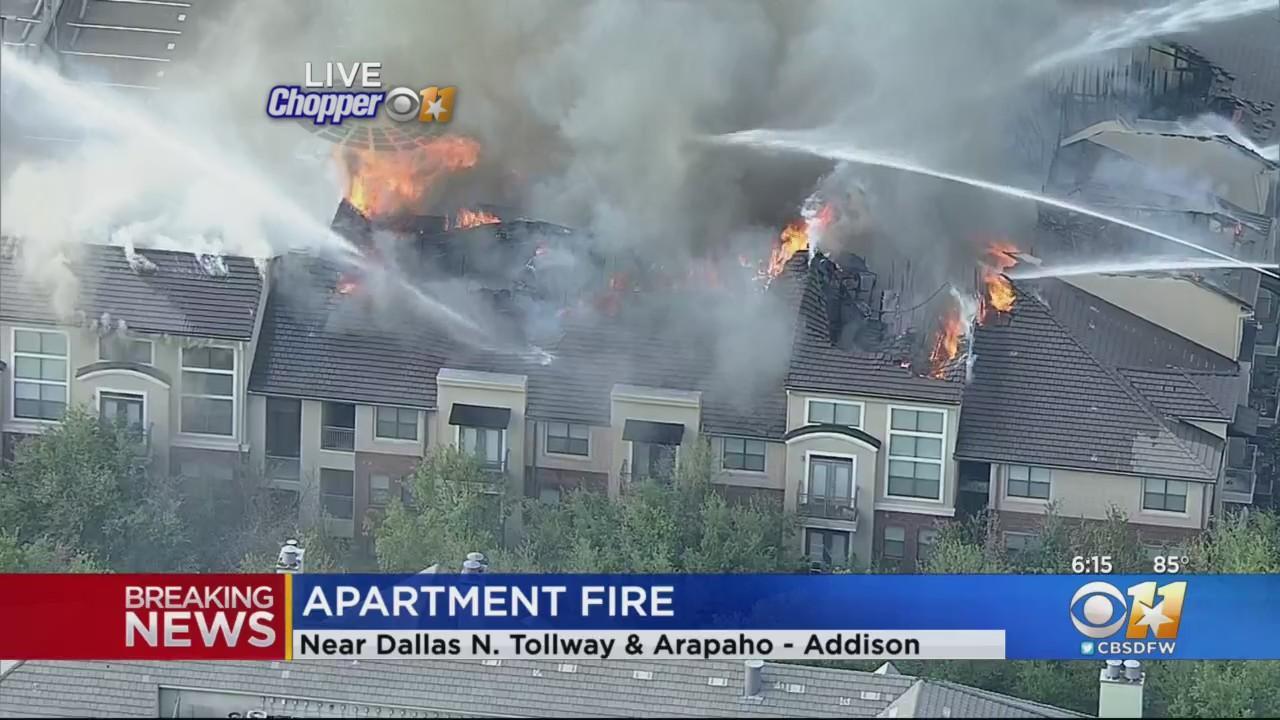 Major Fire At Addison Apartment Complex