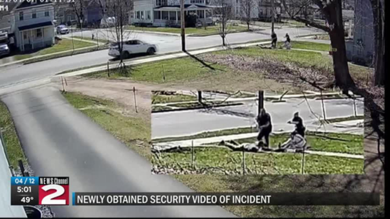 Security video of officer involved shooting in oneonta