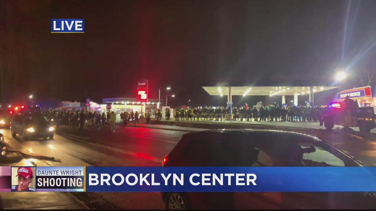 Protesters, Police Clash At Brooklyn Center Police Department