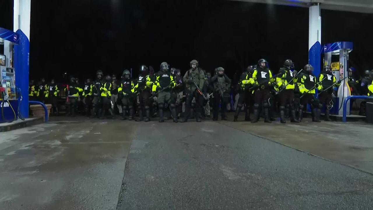 Protests rage in Minnesota after police shooting death
