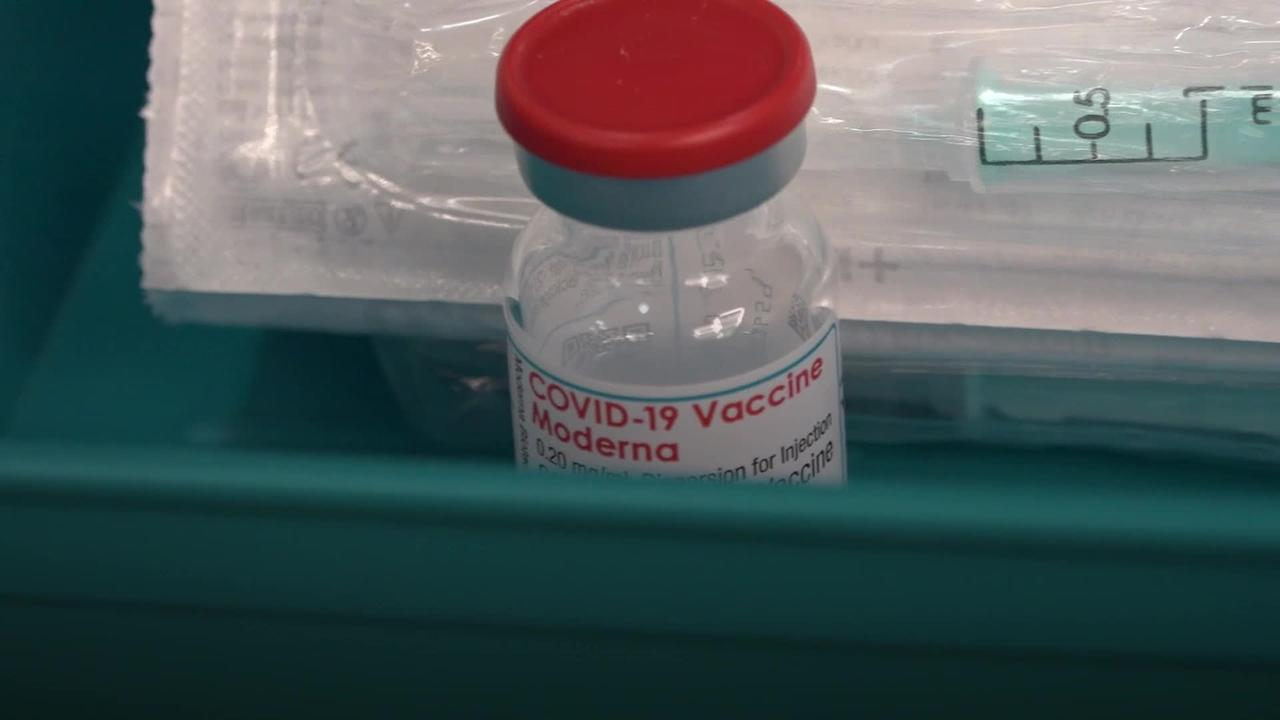 Moderna vaccine given to patients in England
