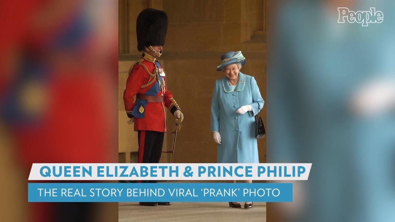 The Real Story Behind the Viral Photo of Queen Elizabeth Giggling Next to Prince Philip in Uniform