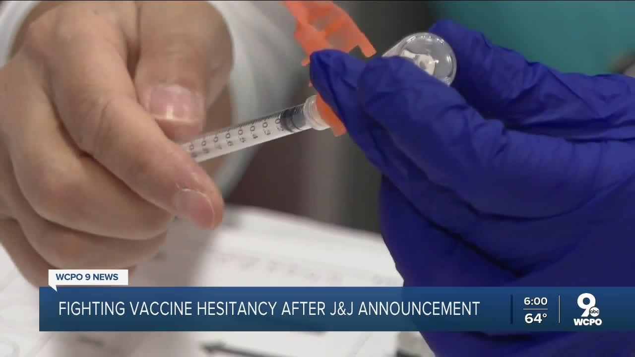 With J&J vaccine paused, health officials work to combat vaccine reluctancy