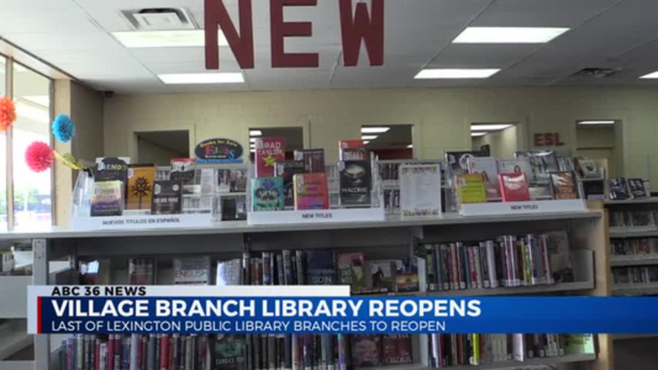 5:30pm Lexington Library Branch Re-Opens 04.12.2021