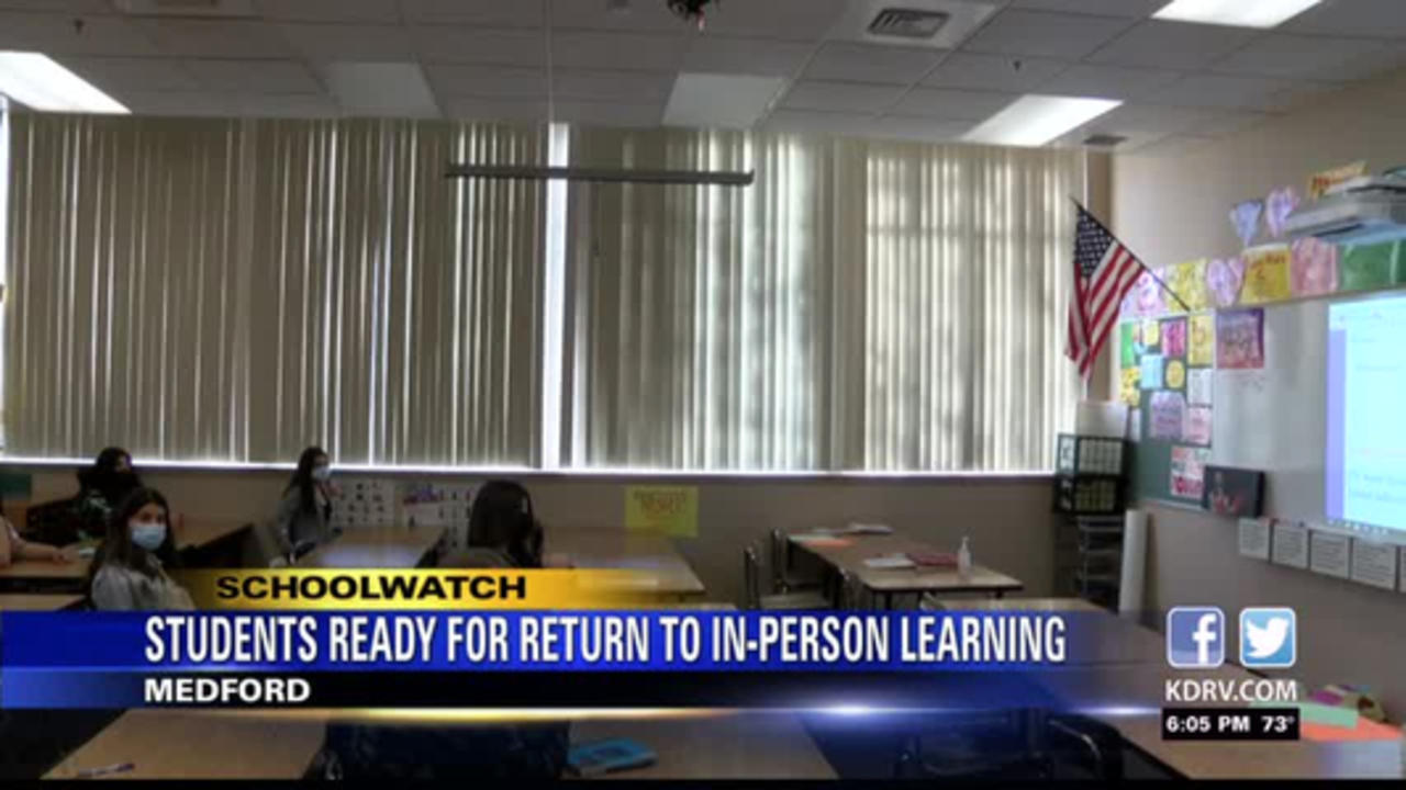 Medford students return to in-person learning for good