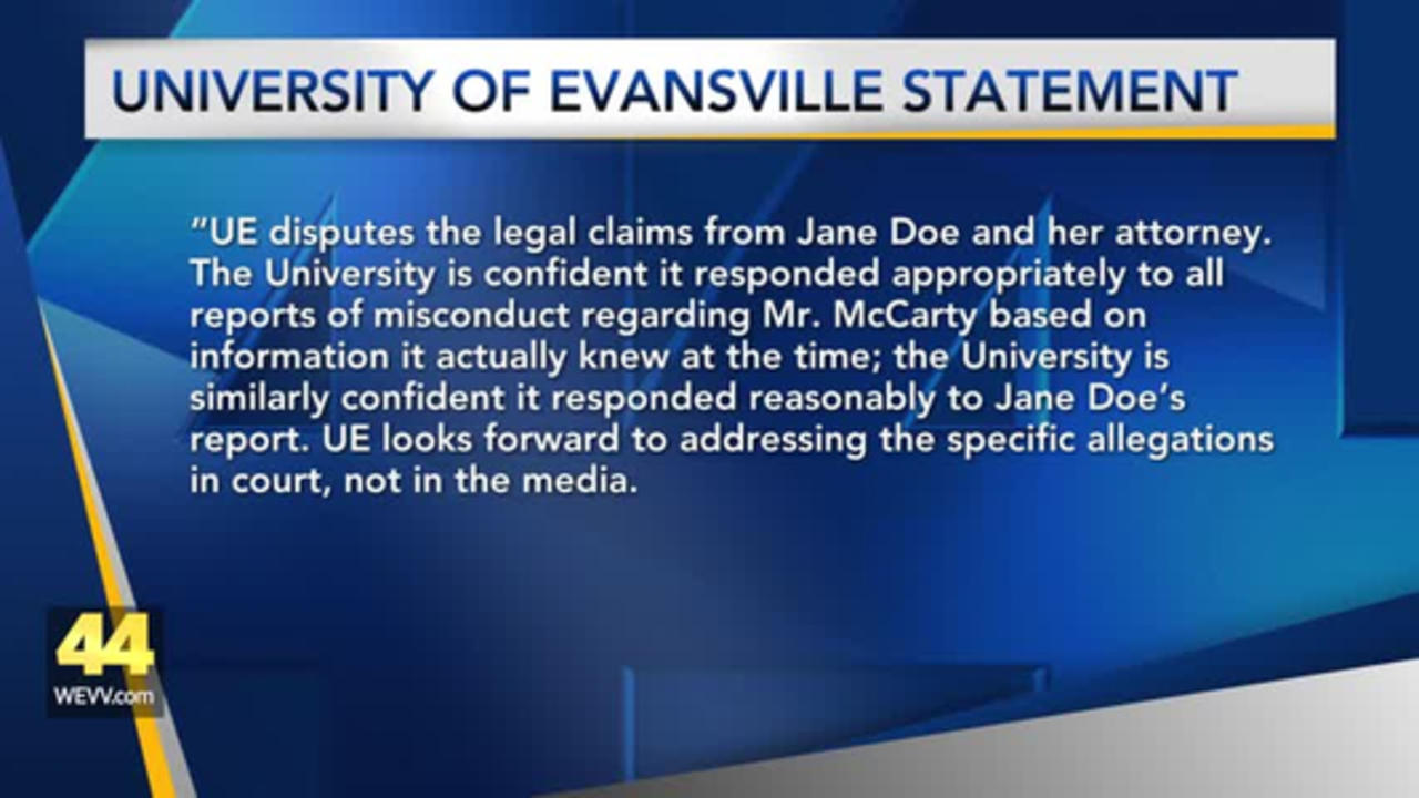 McCarty, UE Respond to Sexual Assault Lawsuit