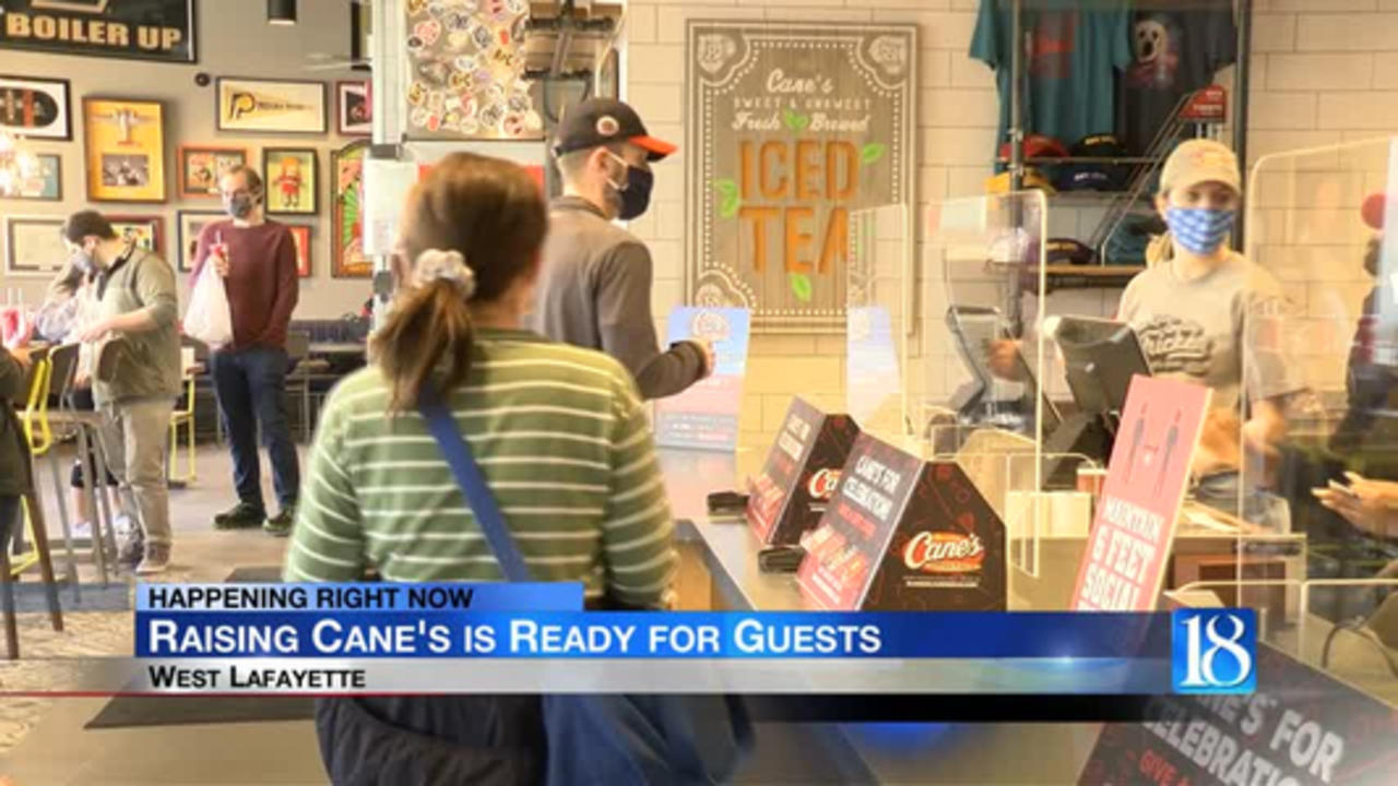 Raising Cane's opens up for customers