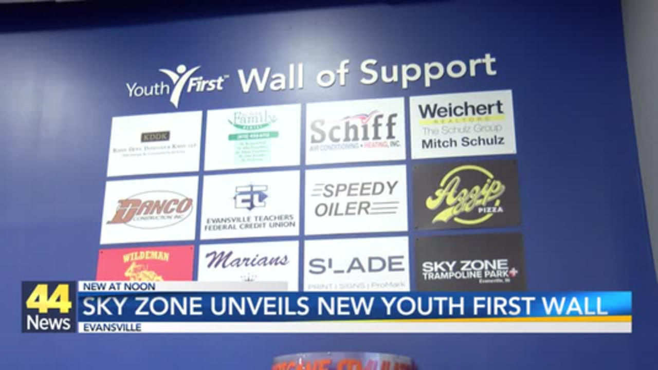 Sky Zone Unveils New 'Youth First Wall of Support'