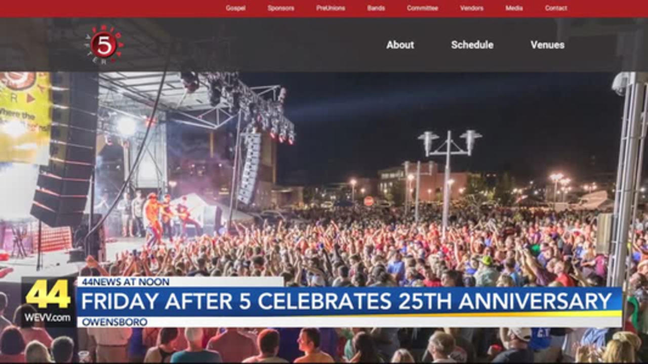 Friday After 5 Planning for 25th Anniversary in Owensboro