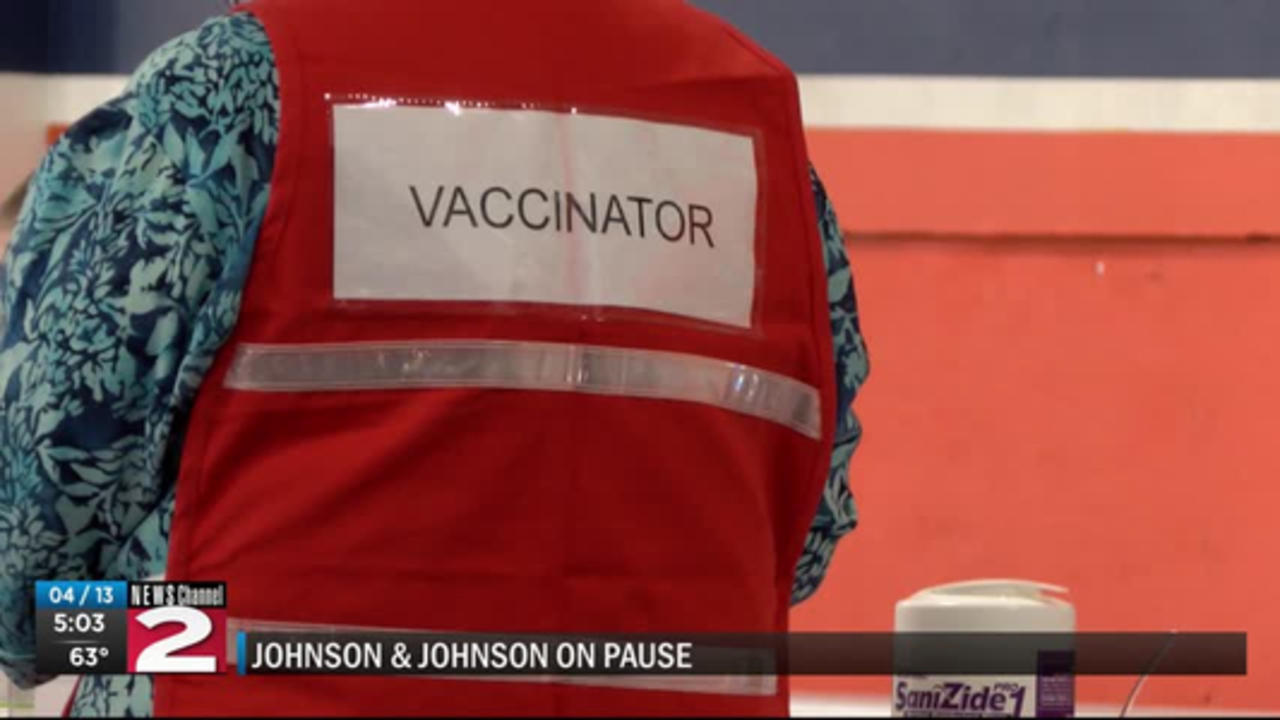 What's happening locally now that the Johnson & Johnson vaccine on pause