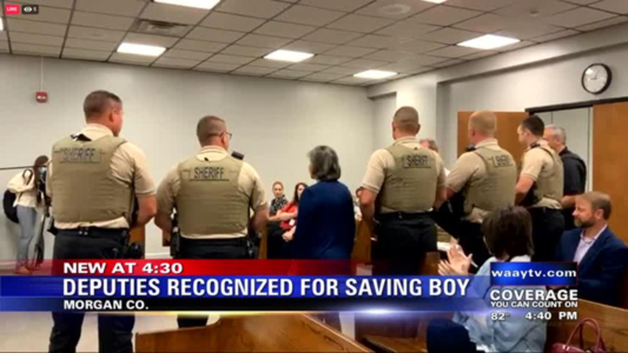 Morgan County deputies honored for saving boy's life