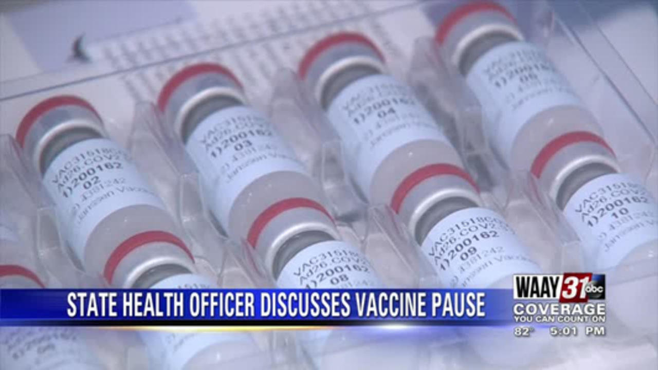 State Health Officer Discusses Vaccine Pause