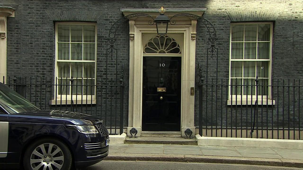 Boris Johnson departs Downing St for PMQs