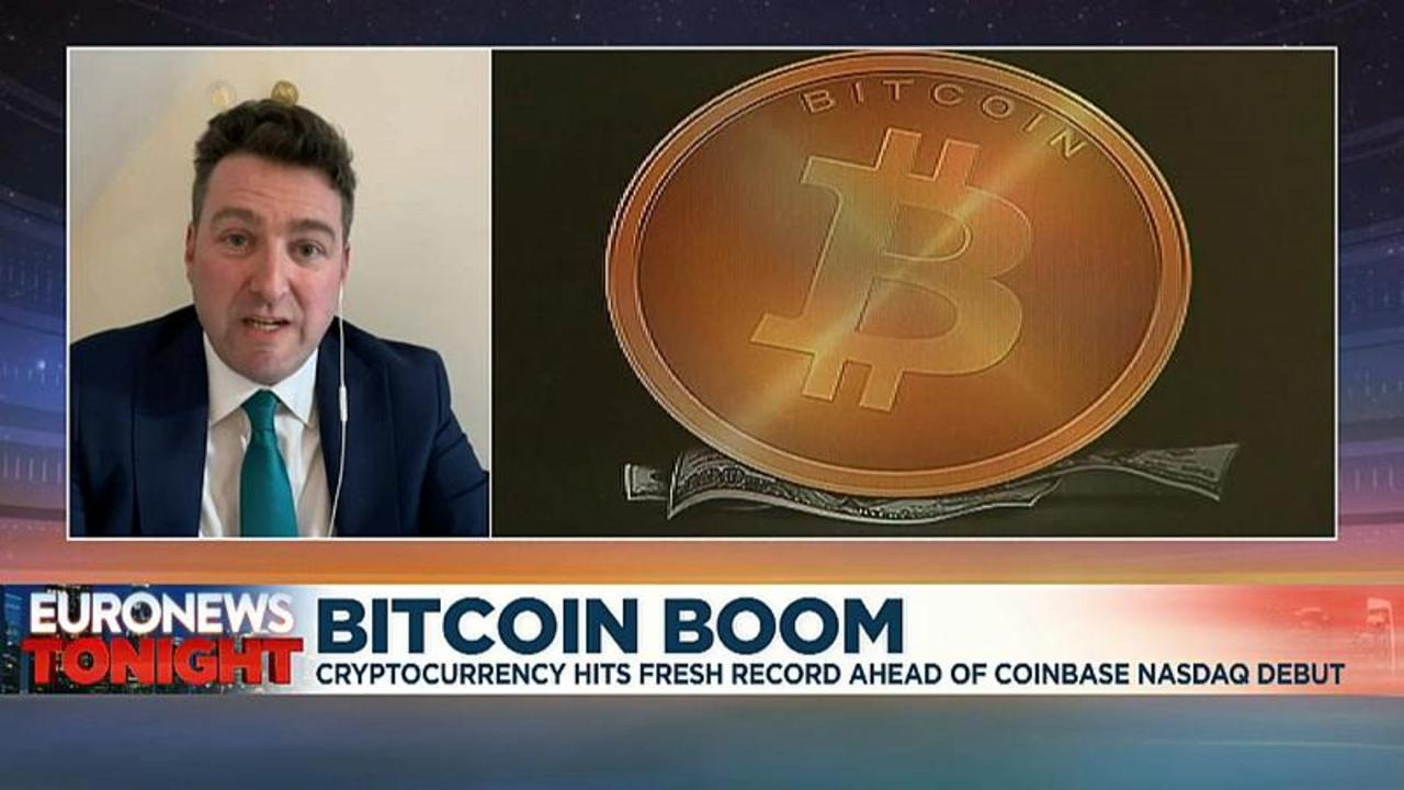 Bitcoin hits fresh record ahead of Coinbase's stock market debut