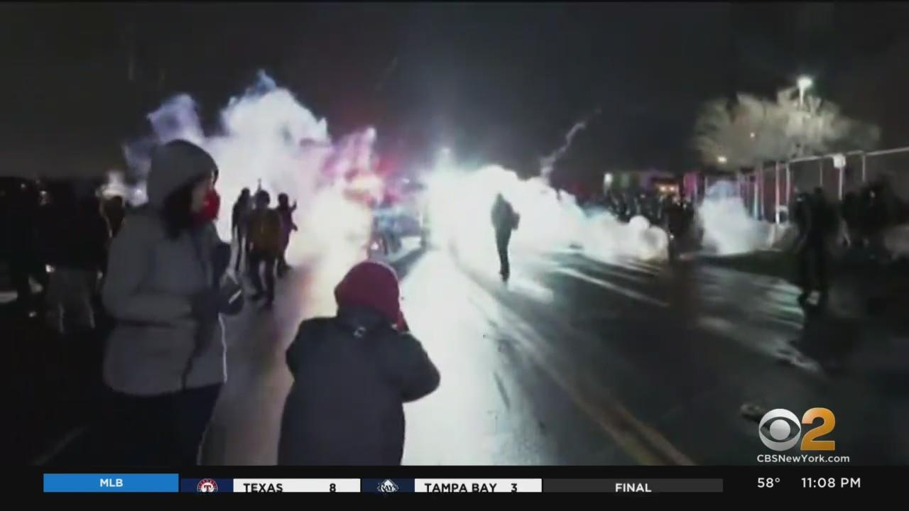 Unrest Breaks Out During 3rd Night Of Protests Over Shooting Death Of Daunte Wright
