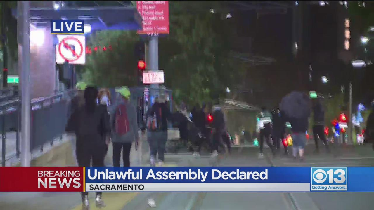 Protesters March In Downtown Sacramento In Wake Of Daunte Wright Shooting
