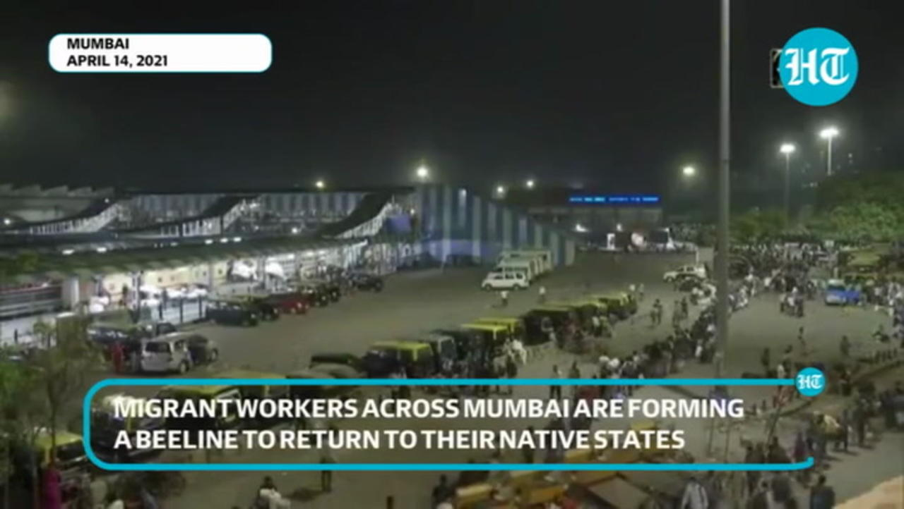 After fresh Covid restrictions in Maharashtra, migrants rush to return hometowns