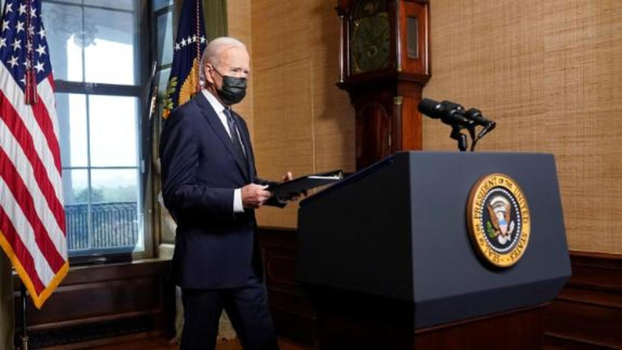 See Biden make historic announcement on US troops in Afghanistan