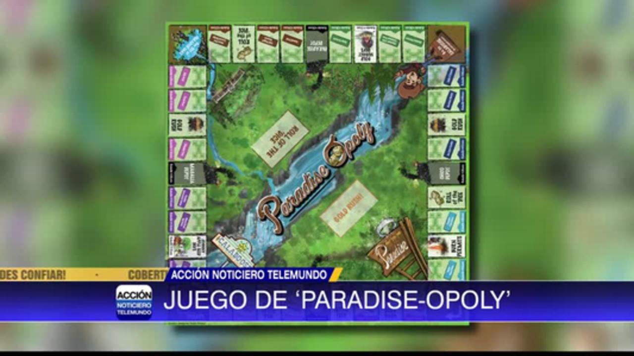 Juego de 'paradise-opoly' estará a la venta