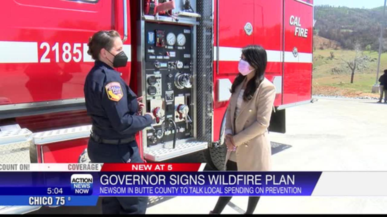 Gov. Gavin Newsom signs wildfire prevention plan in Butte County