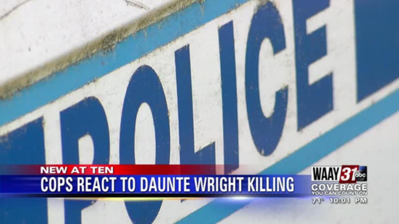 Cops react to Daunte Wright killing