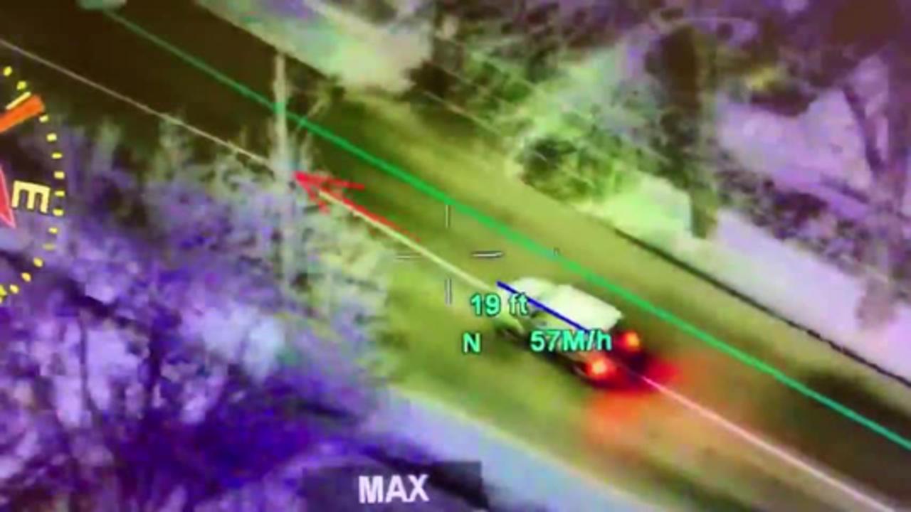 Missouri State Highway Patrol aerial chase video