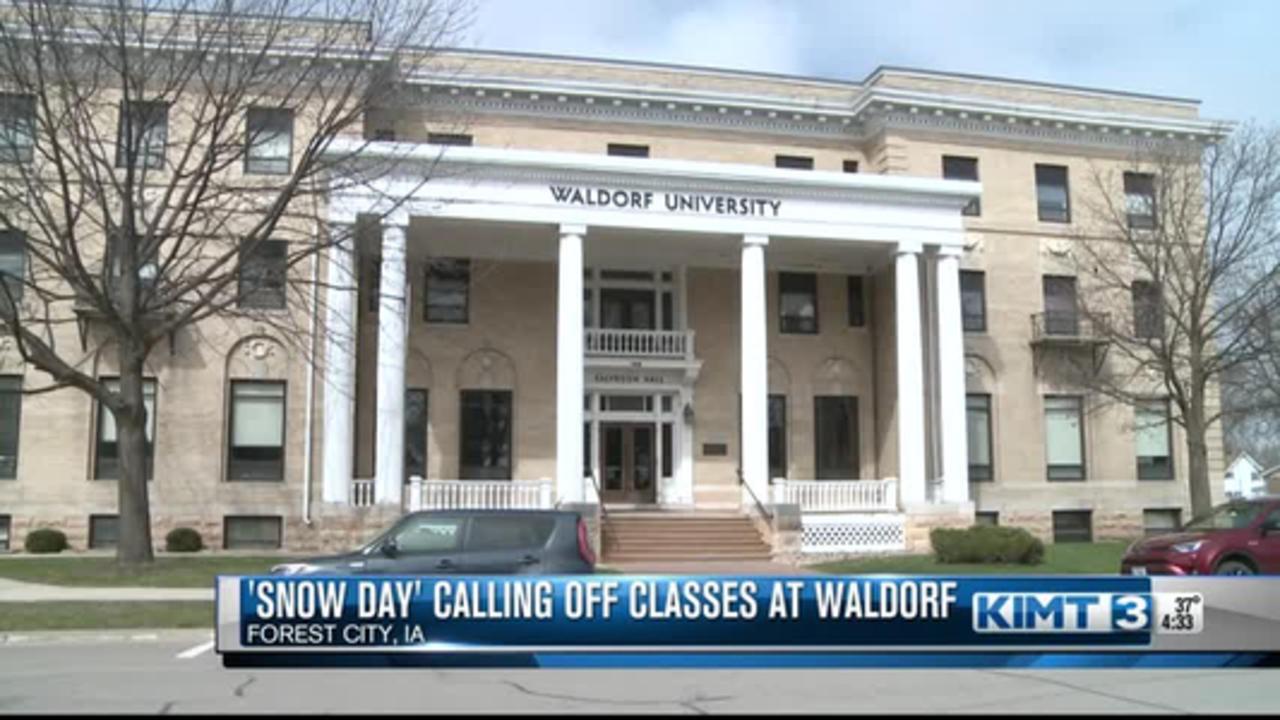 Snow Day Waldorf University Students